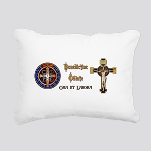 Benedictine Oblate Rectangular Canvas Pillow