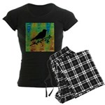 Bird Silhouette on Abstract Pajamas