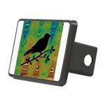 Bird Silhouette on Abstract Hitch Cover