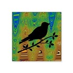 Bird Silhouette on Abstract Sticker