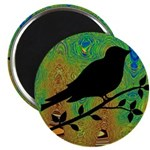Bird Silhouette on Abstract Magnets