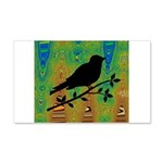 Bird Silhouette on Abstract Wall Decal