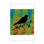 Bird Silhouette on Abstract Posters