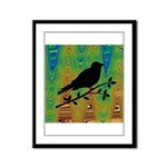 Bird Silhouette on Abstract Framed Panel Print