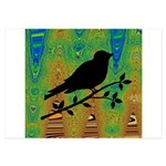 Bird Silhouette on Abstract Invitations