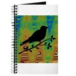 Bird Silhouette on Abstract Journal