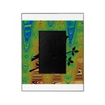 Bird Silhouette on Abstract Picture Frame