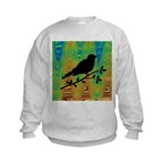Bird Silhouette on Abstract Sweatshirt