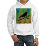 Bird Silhouette on Abstract Hoodie