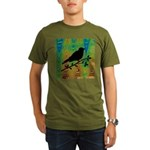 Bird Silhouette on Abstract T-Shirt