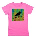 Bird Silhouette on Abstract Girl's Tee
