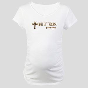 Benedictine Oblate Maternity T-Shirt