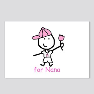 Pink Ribbon - Nana2 Postcards (Package of 8)