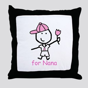 Pink Ribbon - Nana2 Throw Pillow