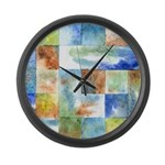 Slated Watercolor Large Wall Clock