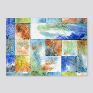 Slated Watercolor 5'x7'Area Rug