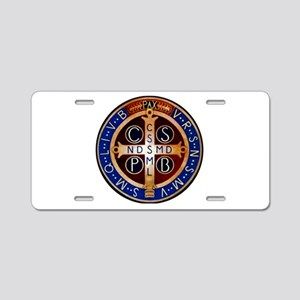 Benedictine Medal Aluminum License Plate