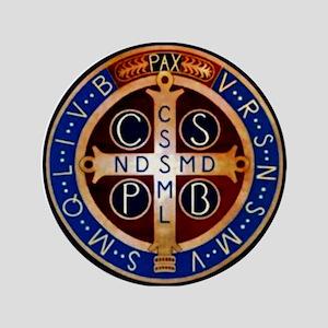 "Benedictine Medal 3.5"" Button"