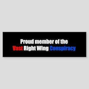 """Vast Right Wing Conspiracy"" Sticker"