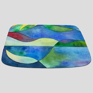 Jungle River Abstract Bathmat