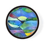 Jungle River Abstract Wall Clock
