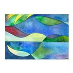 Jungle River Abstract 5'x7'Area Rug
