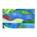 Jungle River Abstract 3'x5' Area Rug