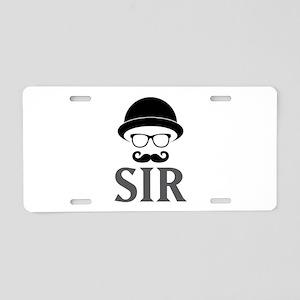 Sir Aluminum License Plate