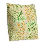 Abstract Arabic Burlap Throw Pillow