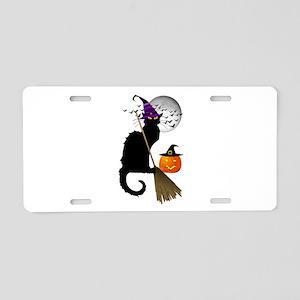 Le Chat Noir - Halloween Wi Aluminum License Plate