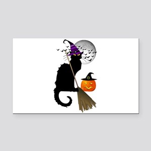 Le Chat Noir - Halloween Witc Rectangle Car Magnet