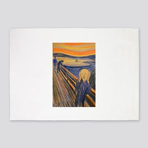Famous Paintings: The Scream 5'x7'Area Rug