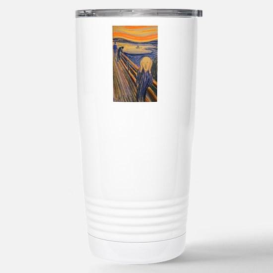 Famous Paintings: The Scream Travel Mug