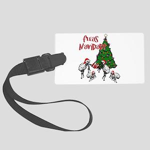 FLEAS NAVIDAD - Christmas Fleas Large Luggage Tag