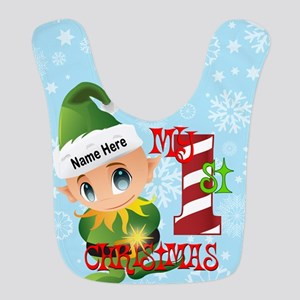 Baby Elf 1st Christmas Custom Bib