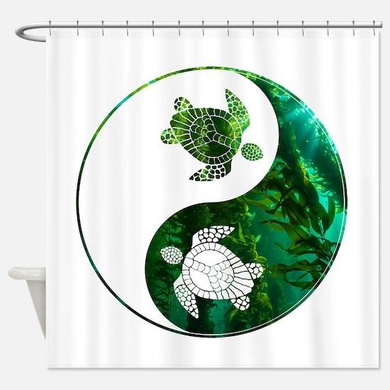 YN Turtle 03 Shower Curtain