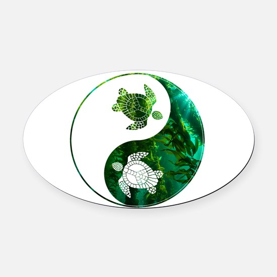YN Turtle-03 Oval Car Magnet
