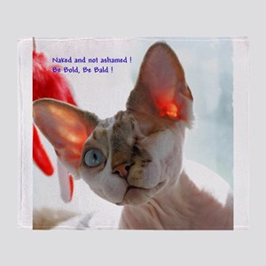 Georgie the Sphynx - Naked and Not Ashamed Throw B