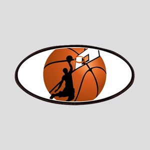 Slam Dunk Basketball Player w/Hoop on Ball Patches