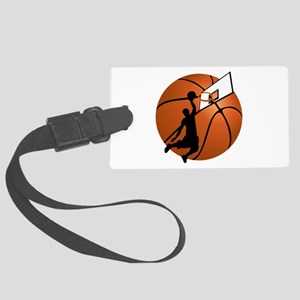 Slam Dunk Basketball Player w/Ho Large Luggage Tag