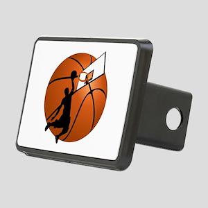 Slam Dunk Basketball Playe Rectangular Hitch Cover