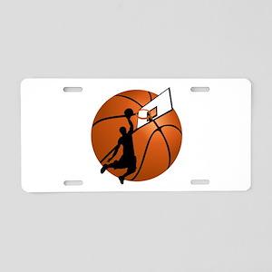 Slam Dunk Basketball Player Aluminum License Plate