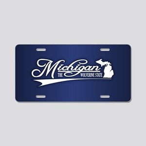 Michigan State of Mine Aluminum License Plate