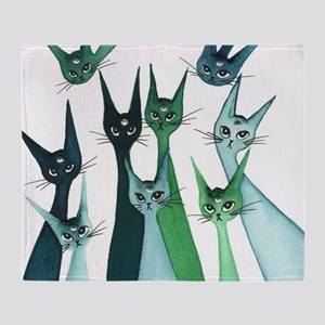 Agra Stray Cats Throw Blanket