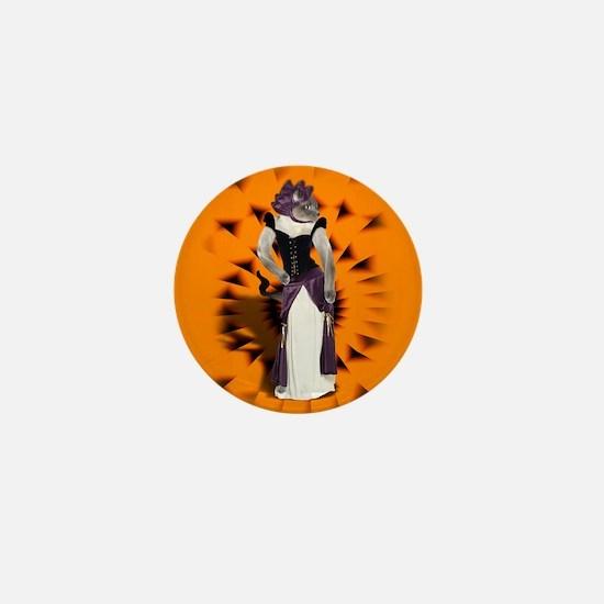 Halloween Hussy - Siamese Cat Mini Button