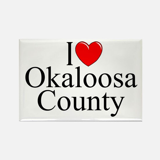 """I Love Okaloosa County"" Rectangle Magnet"