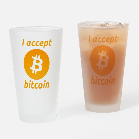 Funny Bitcoin Drinking Glass