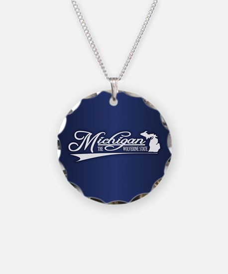 Michigan State of Mine Necklace