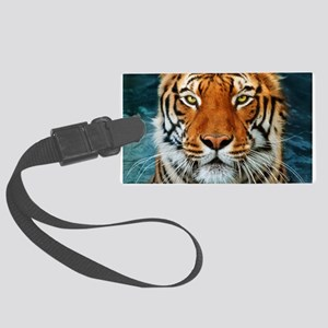 Tiger in Water Photograph Large Luggage Tag