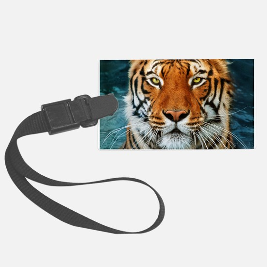 Tiger in Water Photograph Luggage Tag